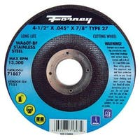 """Forney Industries 71807 Cutting Wheel 4-1/2"""" X 0.045 X 7/8"""" - Stainless Steel"""