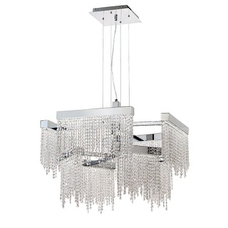 Eurofase Lighting 29071 Rossi 8 Light LED Chandelier with Crystal Accents