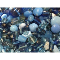 Stanislaus Glass Bead Mix, 1 Pound, Shades of Turquoise