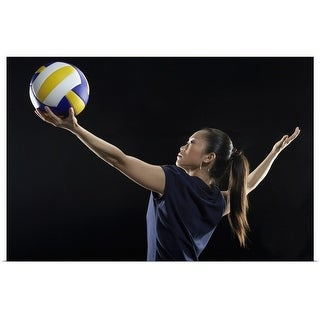 """""""Female volleyball player"""" Poster Print"""