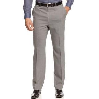 Michael Kors Mini Check Flat Front Dress Pants Black and White 30 x 32