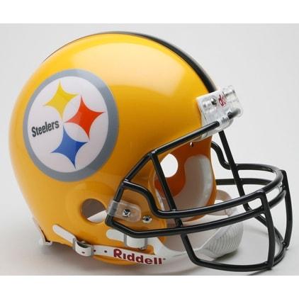 new style 65e9c 2ade7 Pittsburgh Steelers 2007 Yellow Throwback Riddell Mini Football Helmet