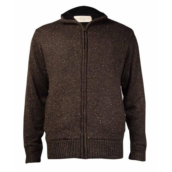 Weatherproof Men's Vintage Zip-Front Sweater Jacket (Expresso ...
