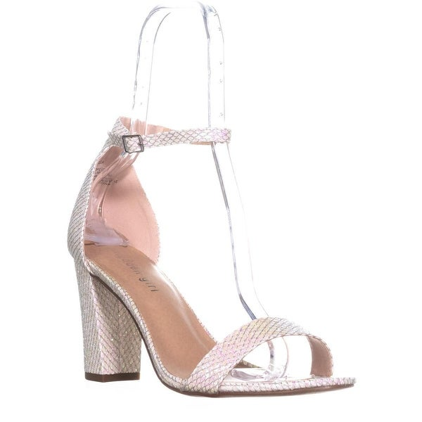 madden girl Beella Ankle Strap Dress Sandals, Hologram Mesh - 11 us