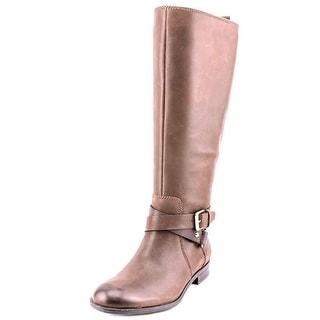 Enzo Angiolini Daniana Women Round Toe Leather Knee High Boot