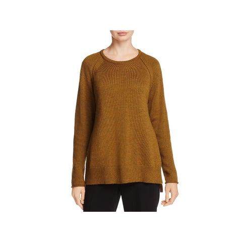 Eileen Fisher Womens Pullover Sweater Merino Wool Long Sleeves
