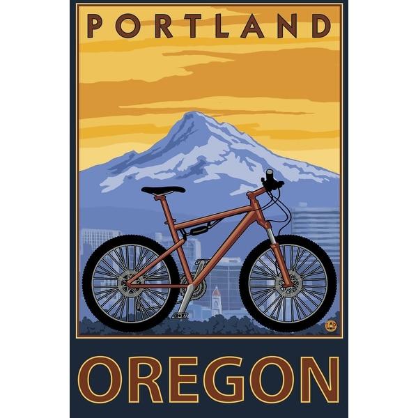 Portland, OR - Mountain Bike - LP Artwork (Light Switchplate Cover)