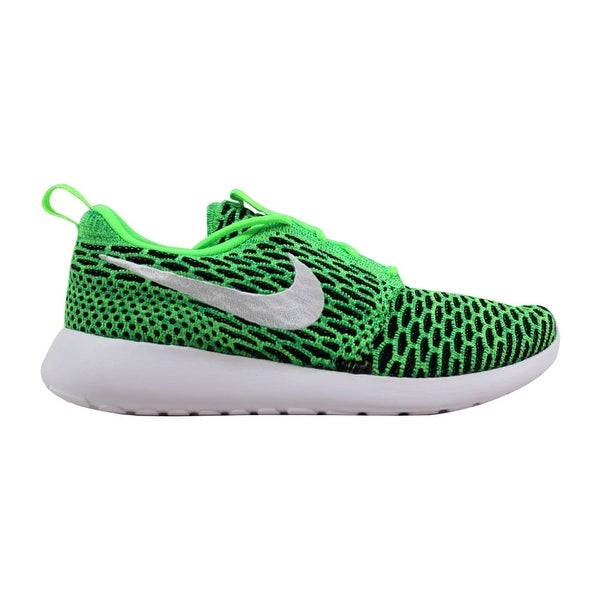best website 2b0fb b33c6 Nike Roshe One Flyknit Voltage Green White-Lucid Green 704927-305 Women