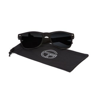 Gravity Shades Classic Horn-rimmed Style Sunglasses, Black Tint - One size