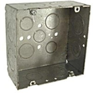 Raco 8265 Outlet Square Box, Steel, 4-11/16""