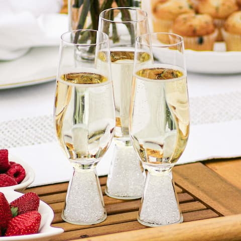 Sparkles Home Rhinestone Stemless Crystal-Filled Champagne Flute - Set of 6