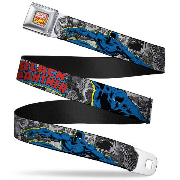 Marvel Comics Marvel Comics Logo Full Color Classic Black Panther Action Seatbelt Belt