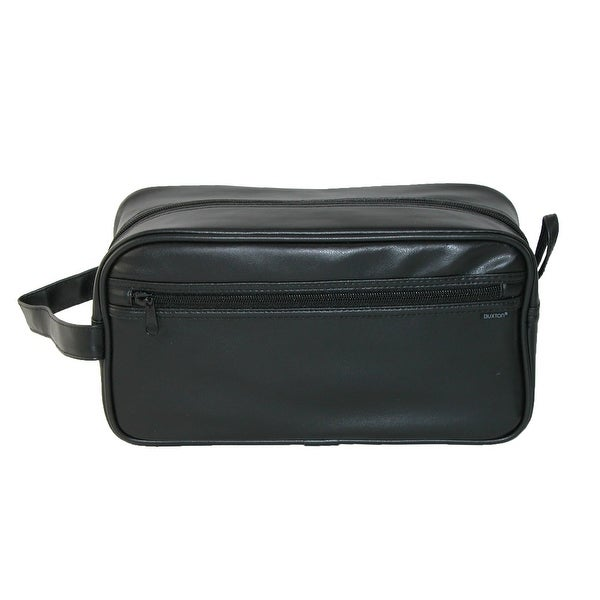 dd6af1a07323 Shop Buxton Men s PVC Travel Toiletry Bag - Black - Free Shipping On ...