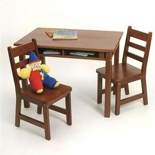 Lipper International 534C Child's Rectangular Table And 2-Chair Set, Cherry