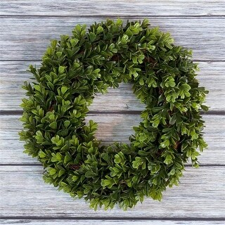 Pure Garden M150014 12 in. Artificial Boxwood Wreath for Front Door