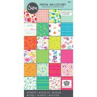 """Have A Little Party - Sizzix 6""""X12"""" Cardstock Pad By Where Women Cook 48/Pkg"""