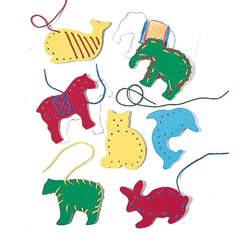 Lauri lauri lacing & tracing animals 7pk 2562