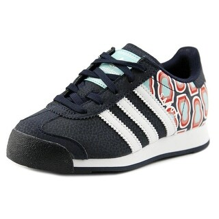Adidas Samoa Youth Round Toe Leather Blue Sneakers