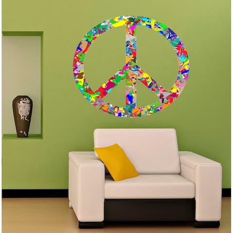 Peace Sign Decal, Peace Sign Sticker, Peace Sign Wall Decor