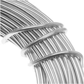 Aluminum Craft Wire Silver Color 18 Gauge 39 Feet (11.8 Meters)