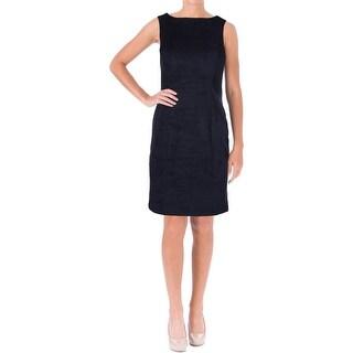 Lauren Ralph Lauren Womens Wear to Work Dress Faux Suede Sheath
