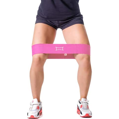 Sling Shot Hip Circle Resistance Band by Mark Bell - Pink - warm-up support