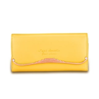 Faux Leather Gold Wire Clutch