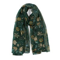 Large Polyester Scarves Beach Shawl Vintage Style Wraps For Women Dark Green