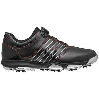 Adidas Men's Tour 360 X BOA Core Black/Core Black/Red Golf Shoes Q47062