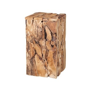 """GuildMaster 7116527  16"""" Wide Wood Accent Table - Natural"""