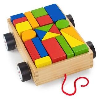 Take-Along Building Block Wagon