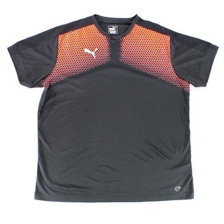Puma NEW Black Neon Blast Red Mens Size 2XL DryCell Performance Shirt