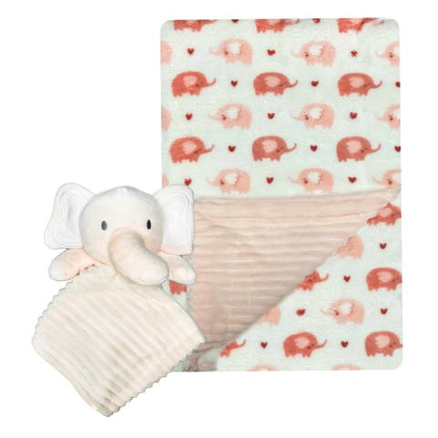 MODERN BABY Super Soft Baby Blanket Set with Lovey Toy Plush Blanket - N/A