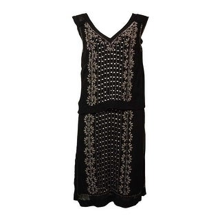 French Connection Women's Beaded V-Neck Popover Dress - 2
