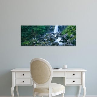 Easy Art Prints Panoramic Images's 'Waterfall, Lake District, Lake District National Park, England' Premium Canvas Art