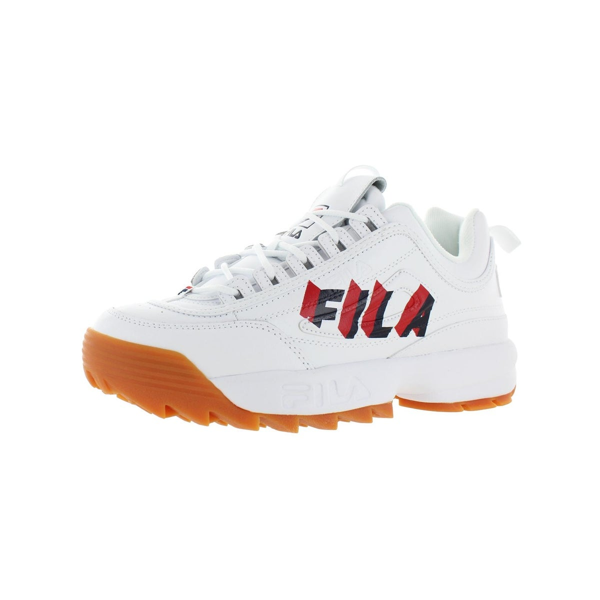 Fila Mens Disruptor II Perspective Sneakers Leather Trainers