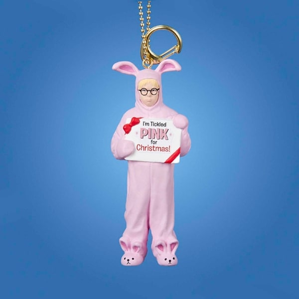 "4"" A Christmas Story™ Pink Bunny Suit Clip-On Keychain Ornament"