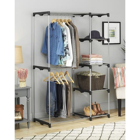 Portable Practical Five-tier Wardrobe Closet without Cloth Cover