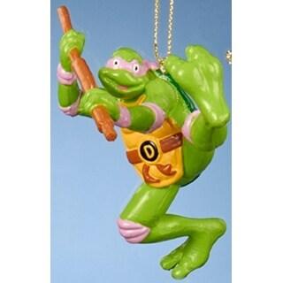 "3.25"" Retro Teenage Mutant Ninja Turtle Donatello Christmas Ornament"