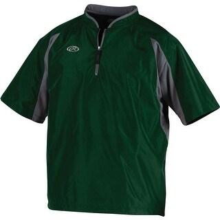 Rawlings Men's Short Sleeve Batting Cage Jacket