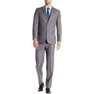Tommy Hilfiger Vasser Trim Fit Grey 2pc Suit 36 Regular 36R Pants 30W