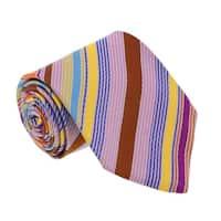 Missoni U3264 Orange/brown/pink/blue  Regimental  100% Silk Tie - 60-3