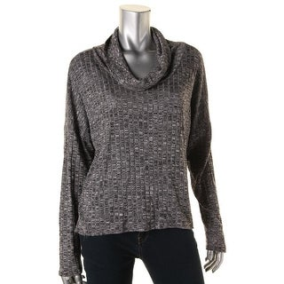 One Clothing Womens Juniors Knit Cowl Neck Pullover Sweater - L