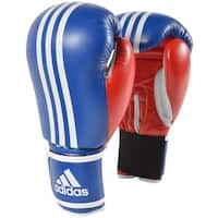 Adidas Response Hook and Loop Training Boxing Gloves - Blue/Red/White