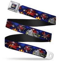Sonic Classic doctor Eggman Flying Egg Mobile Pixelated Full Color Doctor Seatbelt Belt
