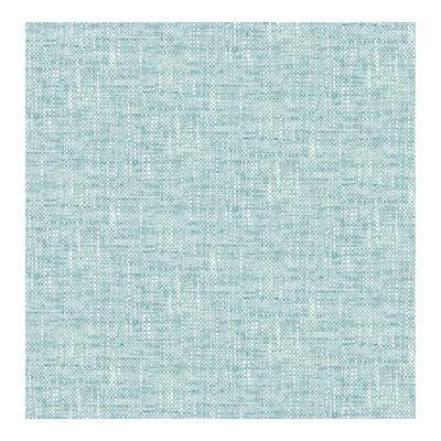 Aqua Poplin Texture Peel & Stick Wallpap - 216in x 20.5in x 0.025in