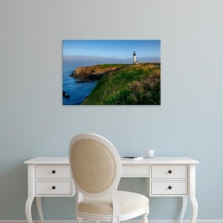 Easy Art Prints Rick A Brown's 'Historic Yaquina Head Lighthouse' Premium Canvas Art
