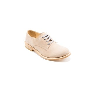 Brunello Cucinelli Women's Nude Brown Leather Oxfords Size 39 / 9