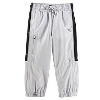 OshKosh B'gosh Baby Boys' Mesh-Lined Active Pants, 24 Months - Grey/Black