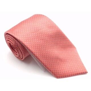 Michael Kors Orange Emergent Print Men's Neck Tie Silk Accessory